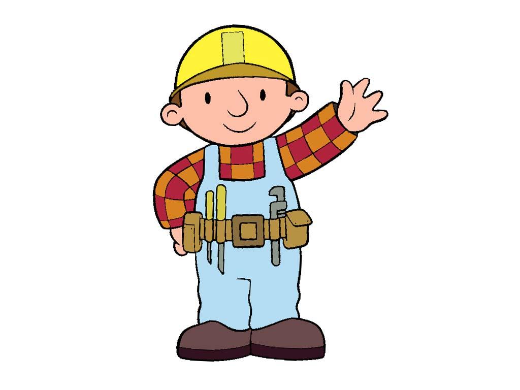 Bauarbeiter clipart schwarz weiß  Bob der baumeister Cliparts
