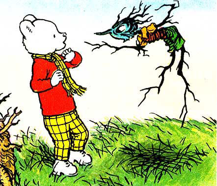 Rupert bear cliparts