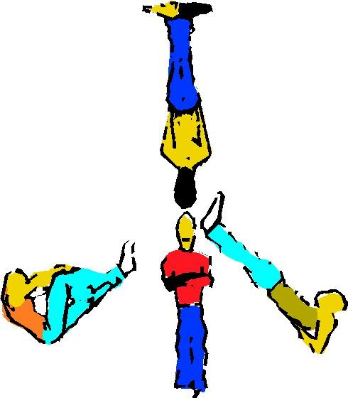 Akrobaten cliparts