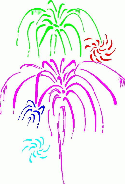 Clipart Animaatjes Vuurwerk 84021