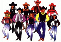 Line dance cliparts