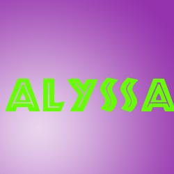 Alyssa namen bilder