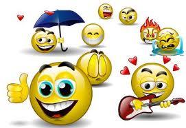 Smilie mit schild smileys