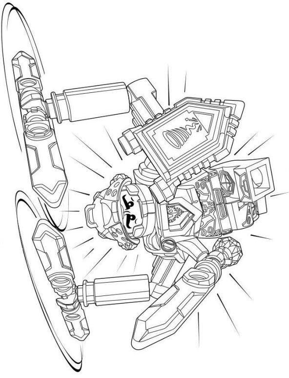 malvorlage - lego nexo knights ausmalbilder w22g7