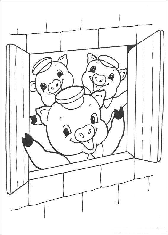 malvorlage  die drei kleinen schweinchen ausmalbilder yrcav