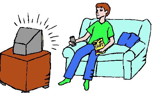Fernsehen Schauen Clipart